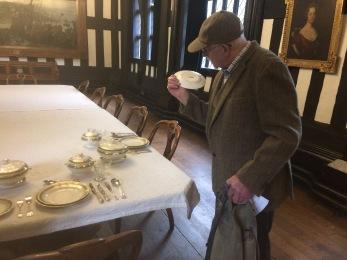 Mr Essoldo checking the pottery